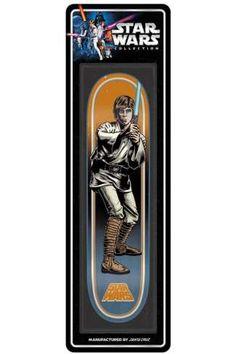 "Santa Cruz x Star Wars Collectible Skateboard Deck - Luke Skywalker 7.8"""