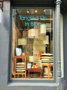 May - Maker of the Month window display from TUIB Boutique May 2015 Boutique Window Displays, Exhibition Stall, Visual Display, New Shop, Luxor, Mid Century Design, Lampshades, Display Ideas, Photo Booth