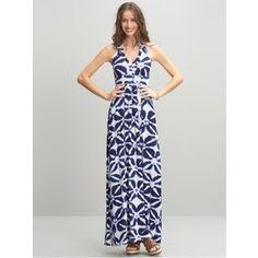 Banana Republic Hailey Printed Halter Dress