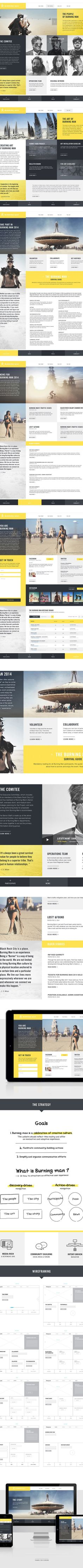 Burning Man - Redesign by Marc-Antoine Roy, via Behance