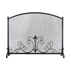 Art Nouveau fireplace screen