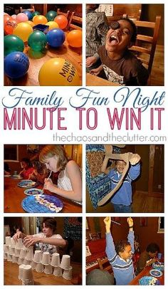 Minute to Win It Family Fun Night by Kmaf8