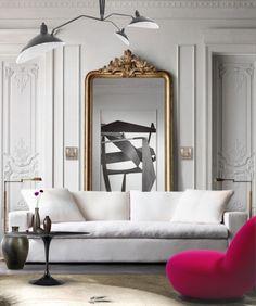 'Hint of raspberry #livingroom #Pink #sergemouille #titine #mirror #sculpture #borselius #tulip #EeroSaarinen #gold #Rug #modernclassic #parisianflat' created in #neybers