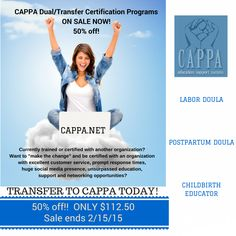 CAPPA has a SWEET calorie free deal for YOU!  50% OFF Dual Certification! Certify today. #CAPPA #SALE #Valentine