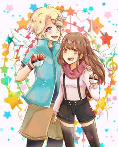 Pokemon trainers yoosung and MC!