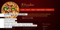 Il Paradiso, Pizza & Pasta Restaurant HTML+CSS - Food Retail