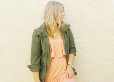 Aubrey Kinch // Coral Ruffle Road Maxi Dress from ShopRiffraff.com!