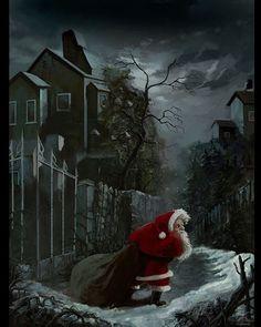 "R.P. SWIRL on Instagram: ""Sanskarans - Artist!!"" Silent Night, Macabre, Winter Holidays, Xmas, Seasons, Artist, Painting, Festive, Join"