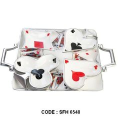 We manufacture variety of metal trays & supply to our buyers.Our products are sold by many reputed International BRANDS ! Playing Cards Serving Set (Set of 5 Pcs) A fun serving set for a variety of occassions. Serve with nuts or dips to make the great impression during the poker night, super bowl, or any other event that could use an interesting hint of fun! The set even makes a unique anniversary or wedding gift.