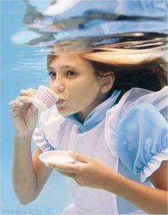 Alice in Wonderland Underwater Photo Series by Elena Kalis