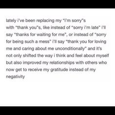 Replace sorry with thank you