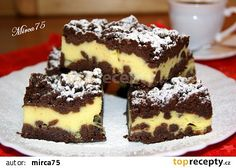 Strouhaná buchta II recept - TopRecepty.cz Healthy Recepies, Healthy Dessert Recipes, Cake Recipes, Healthy Foods, Sweet Cakes, Sweet And Salty, Nutella, Tiramisu, Food And Drink