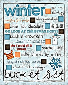 Winter Bucket List...
