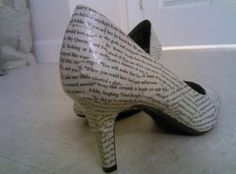 What girl doesn't like a new pair of shoes? Well how about a new pair of shoes made from your old books?