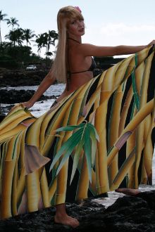 This #Hand painted, #Batik, #Bamboo #ChicByCheri #sarong is designed from one of my original #paintings. It is available for purchase online at http://chicbycheri.com.  It is available in either 100& #Silk charmeuse or %100 #Rayon. All of our sarongs are hand washable and come with a set of Mother of #Pearl #buckles used to convert your silk sarong into a #jacket. #Summer #Beachwear #Coverup #Beach #Pool #Pareo #Swimsuit #Bathing suit #Fashion #Clothes #Bali #Hawaii