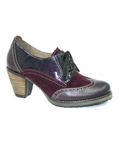 Loving this DROMEDARIS Violet Ginger Leather Oxford on #zulily! #zulilyfinds