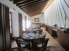 The Breakfast Room leading on to the garden terrace at Castell Son Claret Terrace, Conference Room, Luxury, Breakfast, Garden, Table, Wedding, Furniture, Home Decor