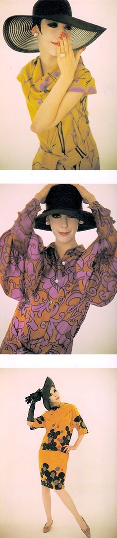PEGGY MOFFITT wearing RUDI GERNREICH Resort 1964  (in stores) ((designed &…