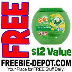 ►► WOW!!! FREE Gain Flings Laundry Detergent - 42 Ct. from Walmart - Exp 4/16/17 ►► #Free, #FreeAfterRebate, #FREEStuff, #FREEbate, #Freebie, #Frugal, #FrugalFind ►► Freebie Depot