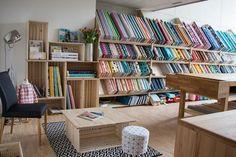 Bio Design Stoffe findest du in Winterthur bei YingDesign Winterthur, Bookcase, Shelves, Zurich, Switzerland, Fabric, Shopping, Home Decor, Fabrics