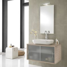 Found it at Wayfair.co.uk - Giava 90cm Wall Mounted Vanity Unit with Mirror, Tap and Cabinet
