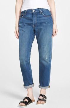 Levi's® Levi's® 'Customized 501®' Boyfriend Jeans available at #Nordstrom