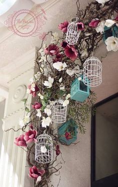 витрина украшение цветами кафе интерьер кемерово www. Cage Deco, Dried Flowers, Paper Flowers, Spring Window Display, Deco Nature, Deco Floral, Store Design, Event Decor, Floral Arrangements