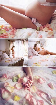 I want a soft and feminine maternity boudoir theme for our shoot. I love the use of multi-color rose petals used in this shoot. It is so natural. by WeAreAllMadHere Boudoir Photos, Newborn Photos, Pregnancy Photos, Maternity Photography, Baby Photos, Family Photography, Baby Pictures, Newborn Twins, Photography Props