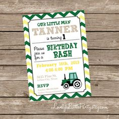 DIY Printable Little Man Tractor Birthday by lovelylittleparty