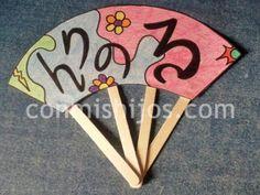 Abanico japonés. Manualidades con papel para niños