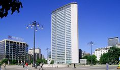 Built in 1956-1958, Pirelli Tower instantaneously became the symbol both of Milan and Italy's economic and business progress. 127 meters (417 ft) high, and designed in 1950 by architect Gio Ponti helped by Pier Luigi Nervi and Arturo Danusso, it was Alberto Pirelli, president of Pirelli company who ordered the construction  Pirelli Tower was also source of inspiration for the realization of the Pan Am Building (now MetLife Building) in New York and Alpha Tower in Birmingham.