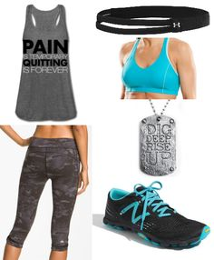 """Cute leggings from alo """"Pain is temporary quitting is forever"""" workout clothes"""