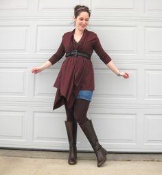 Megan Nielsen wrap cardigan - tutorial on how to make a wrap cardigan