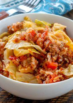 Cabbage Rolls Recipe, Cabbage Recipes, Meat Recipes, Cooking Recipes, Healthy Recipes, Hamburger Recipes, Easy Casserole Recipes, Casserole Dishes, Basque