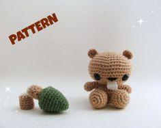 Beaver Pattern / Crochet Amigurumi Pattern / Kid Pattern / Kid Toy / Woodland Pattern / Woodland Animal / Crochet Animal / Amigurumi Pattern