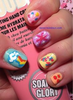 My Little Pony Mani. See more cute nails on bellashoot.com