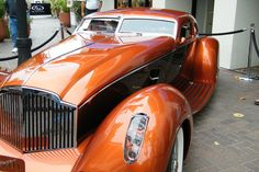 1934 Packard Boat Tail Coupe Myth owned by Francis J. Roxas of Hinsdale, Illinois.