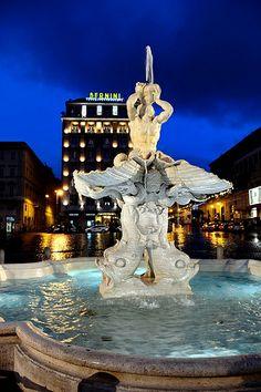 Rome -The restored Triton Fountain   Flickr – Condivisione di foto!