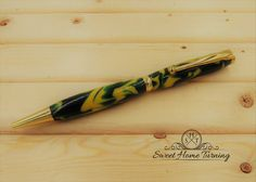 Handcrafted Green Bay Packers Pen     Handcrafted Seattle Super Sonics Pen     Sports Lover Pen by SweetHomeTurning on Etsy