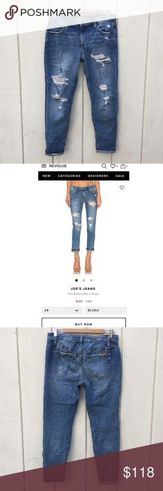 Joe's Jeans Billie ankle jeans Worn only a few times and in excellent condition!! There's a pocket for cell phone (photo#6). It says size 26, but the fabric is very stretchy, so could fit 27. Originally bought from Revolve. As of now (3/1/2017), they sell this style for $133, but size 26 is sold out. Joe's Jeans Jeans Ankle & Cropped