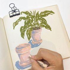 Oil Pastel Crayons, Oil Pastel Art, Oil Pastel Drawings, Bedroom Artwork, Art Diary, Aesthetic Painting, Crayon Art, Pretty Art, Doodle Art