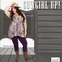 """@swakdesigns's photo: """"Save a horse, ride a cowboy!  Add a cowboy hat & boots to this fab top & jeggings---- bam! You're a cowgirl!"""""""