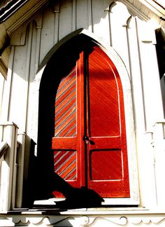 North Carolina, USA~The Red Door photo by crystalliora ✦ vesper704, via Flickr