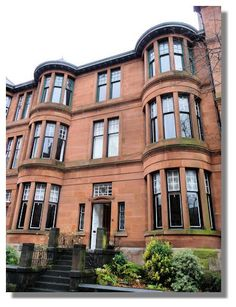 Red sandstone tenements, Glasgow..  I never lived in one of these. They are nice.