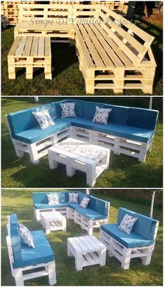 DIY Amazing Furniture Ideas with Wood Pallets: Finding amazing and best shipping wood pallet furniture ideas would be much a daunting task for the beginners who know about. Pallet Garden Furniture, Diy Furniture Projects, Diy Pallet Projects, Pallet Ideas, Furniture Ideas, Wooden Furniture, Palette Furniture, Diy Furniture Table, Furniture Design