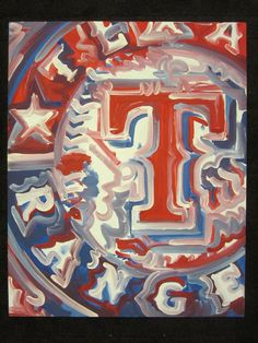 Texas Rangers Painting by Justin Patten ---- he has some really unique paintings.  Would love to have one....