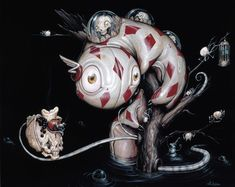 Art et Cancrelats: Greg Craola Simkins Dark Fantasy Art, Fantasy Kunst, Dark Art, Graffiti Art, Art And Illustration, Arte Lowbrow, Blog Art, Urban Art, Cool Artwork