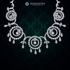 A bride deserves to be engulfed in divine grace; this Nakshatra diamond necklace will accomplish that.