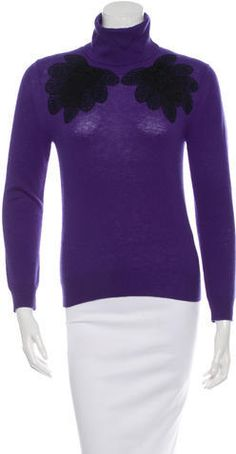 3.1 Phillip Lim Wool Embroidered Turtleneck Sweater 3.1 Phillip Lim, Turtleneck, Seasons, Wool, Stylish, Sweaters, Outfits, Fashion, Moda