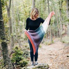 Lion Brand Mandala Yarn, Front Post Double Crochet, Work Flats, Free Crochet, Triangle Scarf, Moss Stitch, Dk Weight Yarn, Shawl, Crochet Patterns